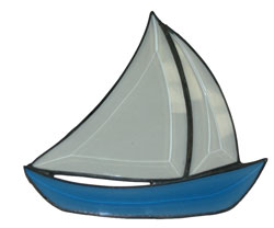 BEVELLED MINI SAILBOAT - HB20