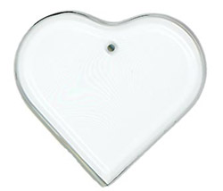 HEART BEVEL ORNAMENT - 1420-H5