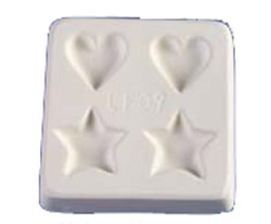 STARS & HEARTS CASTING MOLD - LITTLE FRITTERS