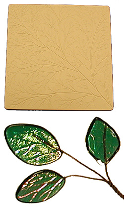 LEAF TEXTURE SLUMP TILE - 48784