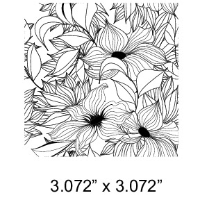 FLORAL MINI - LARGE GLASS ART FUSING DECAL - BLACK