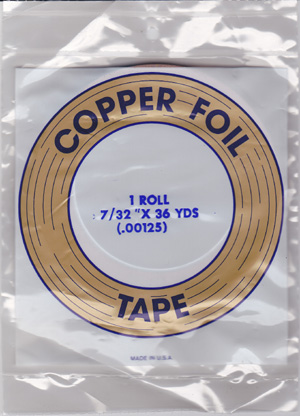 "7/32"" REGULAR COPPER BACKED FOIL - EDCO"