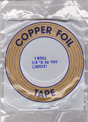 "1/4"" REGULAR COPPER BACKED FOIL - EDCO"