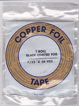 "7/32"" BLACK BACKED FOIL - EDCO"