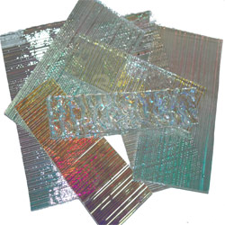 DICHROIC GLASS PIECES - 1/2LB PACKAGE - CLEAR BASE