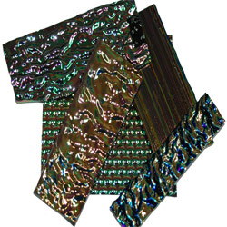 DICHROIC GLASS PIECES - 1/2LB PACKAGE - BLACK BASE
