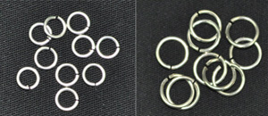 SILVER COLOURED HANGING RINGS - BULK SIZE