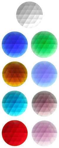 ROUND FACETED JEWELS - 35mm (CLEAR AND ALL COLOURS)
