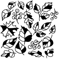 AUTUMN LEAVES FUSING DECAL - 4 X 4 (DISCONTINUED ITEM)
