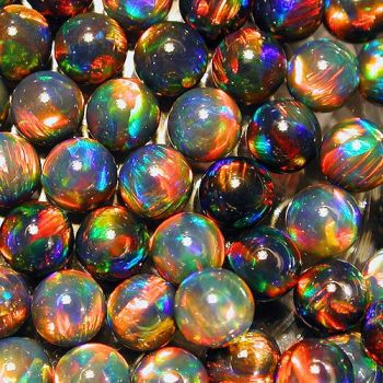 GILSON OPALS - BLACK SPHERE - 6mm