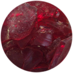 CHERRY RED TRANSPARENT MOSAIC FRIT