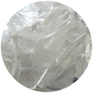 CLEAR METALLIC IRIDIZED TRANSPARENT MOSAIC FRIT