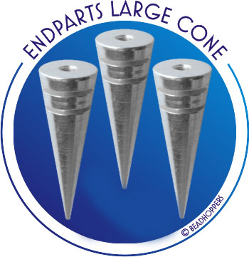 THREADED ENDBEAD - LARGE CONE