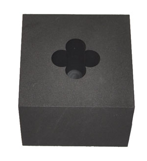 GRAPHITE OPTIC MOLD - 4 PETAL FLOWER