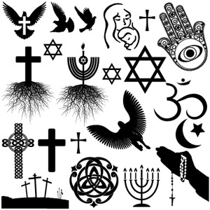 RELIGIOUS - (BLACK) - 4 X 4 SHEET - LOW FIRE