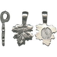 SMALL LEAF BAIL - ANTIQUE PEWTER