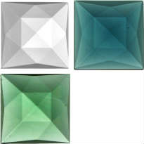 SQUARE FACETED JEWELS - 40mm (CLEAR AND ALL COLOURS)