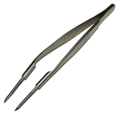 TUNGSTEN TWEEZERS - BENT
