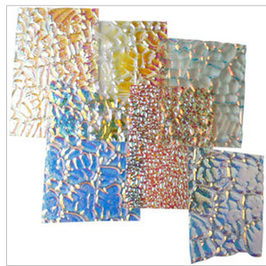 WISSMACH DICHROIC GLASS PIECES - 4OZ PACKAGE - THIN CLEAR BASE