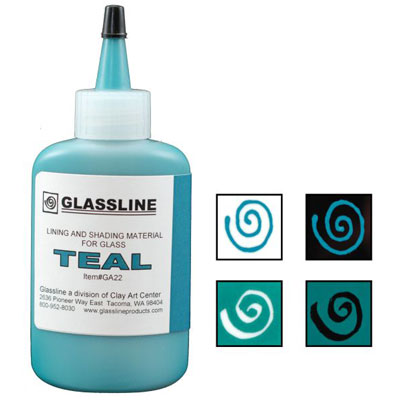 TEAL GLASSLINE PEN