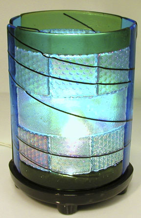 SMALL CYLINDER DRAPING LAMP MOLD by CPI - 9""