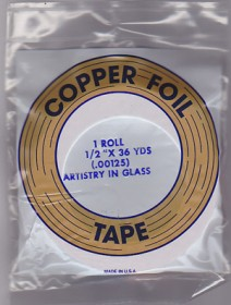 "1/2"" REGULAR COPPER BACKED FOIL - EDCO"