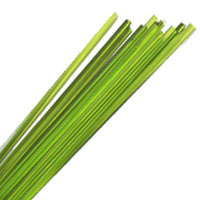 MEDIUM GRASS GREEN STRINGERS #022 by EFFETRE GLASS