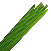 DARK GRASS GREEN STRINGERS #024 by EFFETRE GLASS