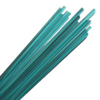 LIGHT TEAL STRINGERS #026 by EFFETRE GLASS