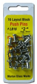 MORTON ALUMINUM PUSH PINS