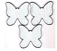 "PRE CUT 3"" CLEAR FUSIBLE BUTTERFLIES - 96 COE"