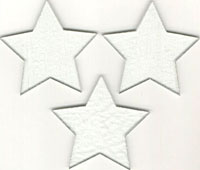 "PRE CUT FUSIBLE 3"" CLEAR STARS - 96 COE"