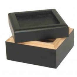BLACK UNHINGED BOX - 2""