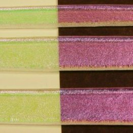 DICHROIC STRIPS - PINK ON CLEAR