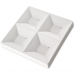 FOUR SQUARE DISH - 7.25""
