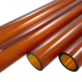 AUTUMN AMBER BORO TUBE -  19mm x 3mm - IMPORTED