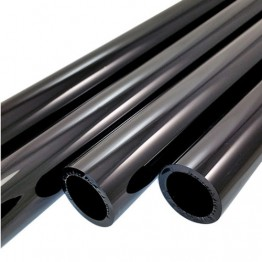 BLACK OPAQUE BORO TUBE -  25.4mm x 4mm - IMPORTED