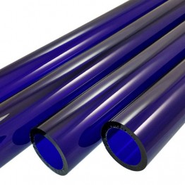BRILLIANT BLUE BORO TUBE -  44mm x 4mm - IMPORTED