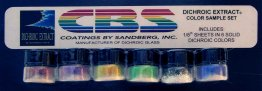 DICHROIC EXTRACT STANDARD COLOUR SAMPLE SET - 1/8 SHEET EQUIVALENT