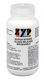 ZYP (AKA MR-97) BORON NITRIDE MOLD RELEASE FOR GLASS CASTING AND SLUMPING (8 oz. BRUSHABLE)