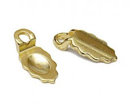 GOLD PLATED LEAF EARRING BAILS - SMALL