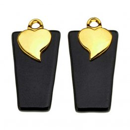 GOLD PLATED HEART EARRING BAILS - SMALL