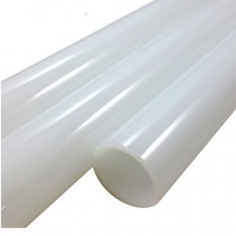 JADE WHITE BORO TUBE -  25.4mm x 4mm - IMPORTED