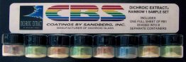 DICHROIC EXTRACT RAINBOW 1 SAMPLE SET - FULL SHEET EQUIVALENT