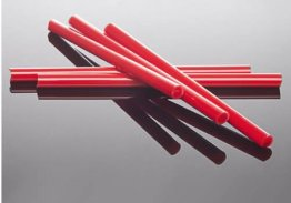 RED CRAYON RODS - GA0104 by GLASS ALCHEMY
