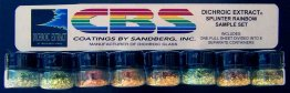 DICHROIC EXTRACT SPLINTER RAINBOW SAMPLE SET - FULL SHEET EQUIVALENT