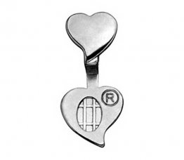 DOUBLE HEART JEWELRY BAILS - MEDIUM - SILVER PLATED
