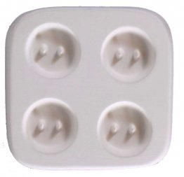 SMALL ROUND HOLEY BUTTONS - 4 by CPI