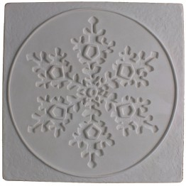 SNOWFLAKE in a SQUARE TEXTURE MOLD