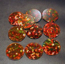 BLACK ROUND COIN 10mm OPALS by GILSON OPALS